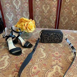 Michael Kors studded crossbody camera bag black